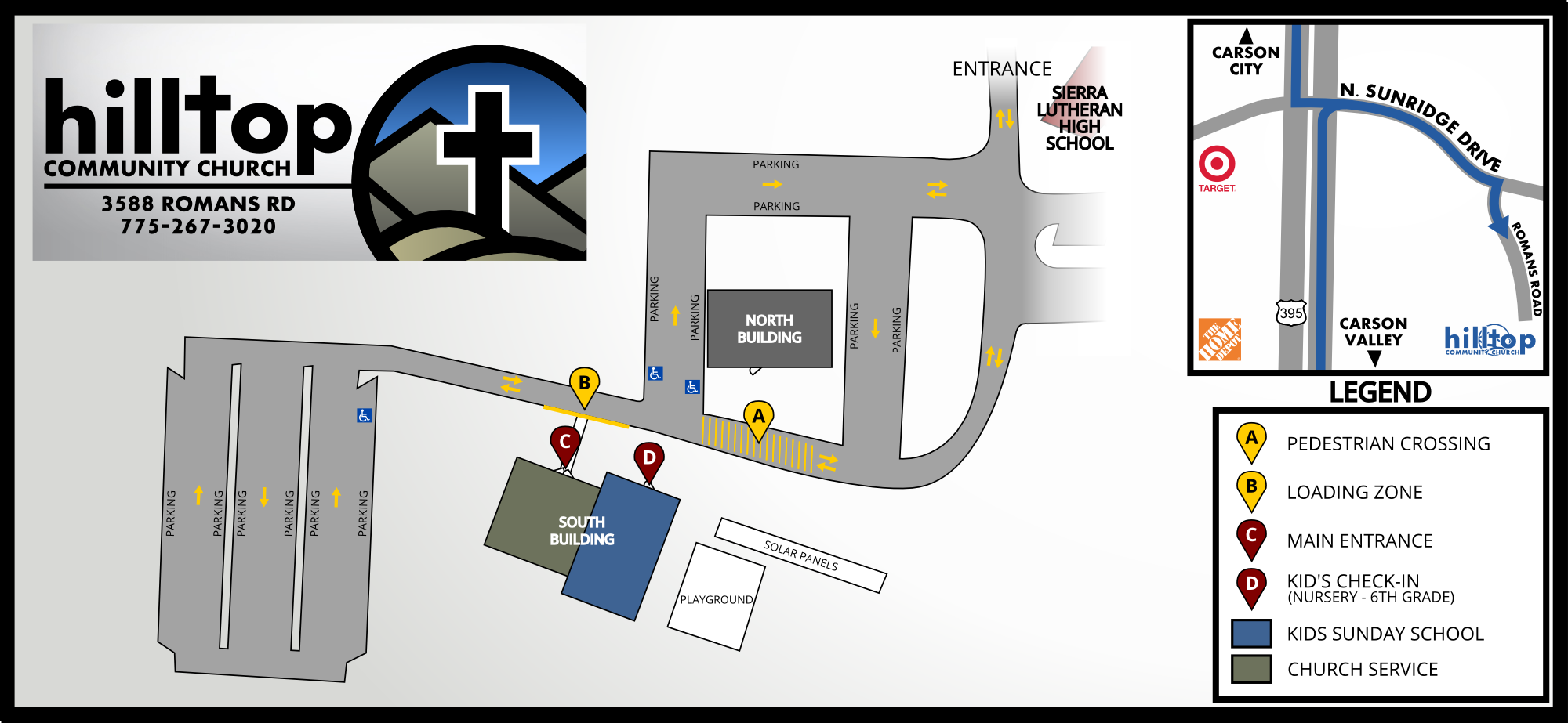 Hilltop Community Church Campus Map